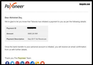 Taboola/Taboola.com Payment Proof
