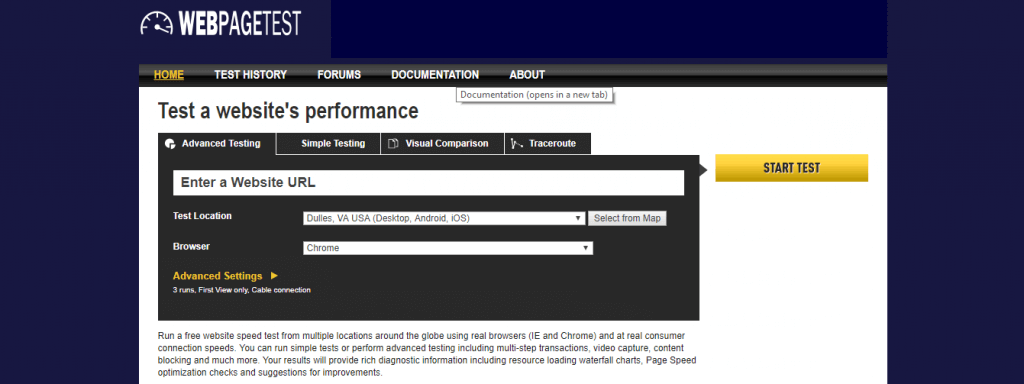 Web-Page test